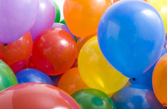 Multicolored Balloons Background Stock Photo