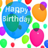 Multicolored Balloons For Celebrating A Birthday Royalty Free Stock Images