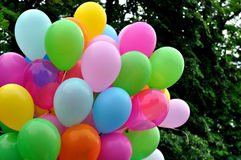 Multicolored balloons Royalty Free Stock Photography