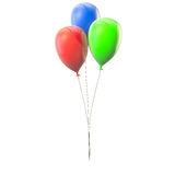 Multicolored balloons in conjunction Royalty Free Stock Image