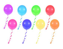 Multicolored balloons Stock Image