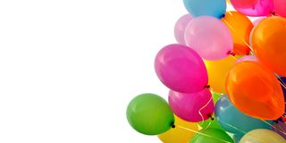 Multicolored balloons,isolated on white background Royalty Free Stock Images