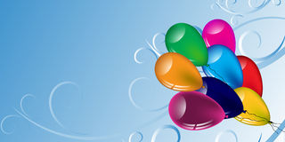 Multicolored balloons and patterns on a light background.Vector Stock Photos