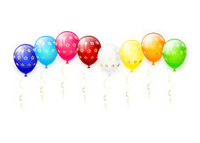 Multicolored balloons with stars Stock Image