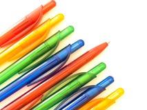 Multicolored ballpointen Stock Afbeeldingen