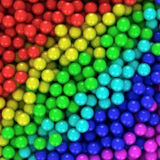Multicolored balls. Heap of multicolored balls, three-dimensional computer graphic Royalty Free Stock Photos