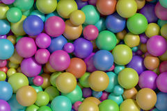 Multicolored balls background Stock Photo
