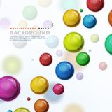 Multicolored Balls, Balloons And Pills Background. Illustration of design abstract background with multicolored balls, balloons, bubbles, pills or candies Royalty Free Stock Image