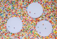 Multicolored balls beads background pattern texture royalty free stock photo