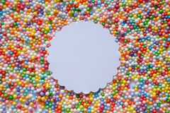 Multicolored balls beads background pattern texture royalty free stock photos
