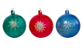 Multicolored balls on Christmas tree Royalty Free Stock Images