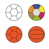 Multicolored balls Stock Photography