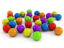 Multicolored balls over white Stock Image