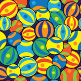 Multicolored balls of seamless pattern Stock Photography