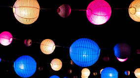 Multicolored balls to decorate with lights Stock Photos