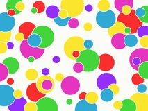 Multicolored balls. Vector image. Stock Photography