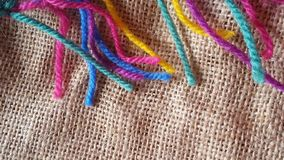 Multicolored balls of yarn for knitting and crochet Royalty Free Stock Photos
