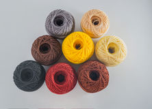 Multicolored balls yarn. Royalty Free Stock Images