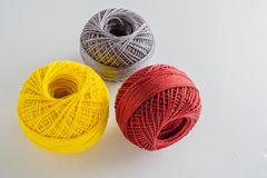 Multicolored balls yarn Stock Images