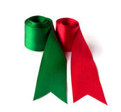 Multicolored bands isolated. Multicolored bands, red and green Stock Photography