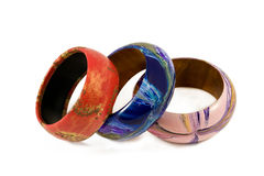 Multicolored bangles royalty free stock photos