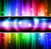 Multicolored banners. Set of bright multicolored banners Stock Photography