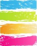 Multicolored banners van Grunge stock illustratie