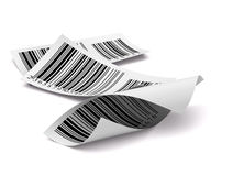 Multicolored barcodes sticker label white Stock Photography