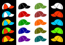 Multicolored baseball cap. Stock Photos