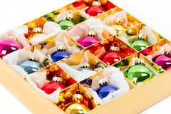 Multicolored baubles. christmas decoration Stock Photography