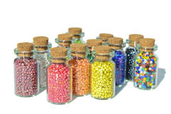 Multicolored beads Royalty Free Stock Images
