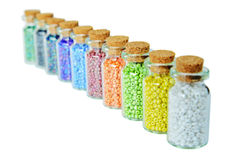 Multicolored beads Stock Photos