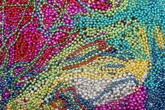 Abstraction of multi-colored beads stock photography