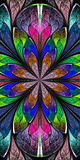 Multicolored Beautiful fractal pattern in stained-glass window s. Tyle. You can use it for invitations, notebook covers, phone case, postcards, cards, wallpapers Stock Photography
