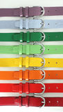 Multicolored belts stock photo