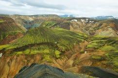 Multicolored bergen in Landmannalaugar, royalty-vrije stock foto's