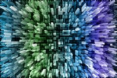 Multicolored bevroren gevormde fantasieachtergrond royalty-vrije illustratie