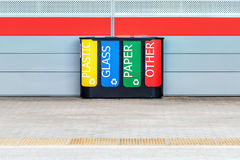 Multicolored bin for separate waste collection. Stock Photography