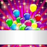 Multicolored birthday balloons party Stock Photography