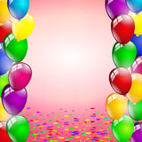 Multicolored birthday balloons party Royalty Free Stock Photo