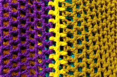 Multicolored blanket. Royalty Free Stock Photography