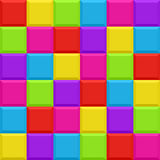 Multicolored blocks seamless background pattern Stock Photos