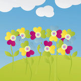 Multicolored bloemen stock illustratie