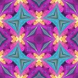 Multicolored bloemenpatroon in de stijl van het gebrandschilderd glasvenster U c Stock Afbeelding