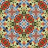 Multicolored bloemenpatroon in de stijl van het gebrandschilderd glasvenster U c Stock Afbeeldingen