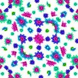 Multicolored Bloementekenings Naadloos Patroon Stock Fotografie