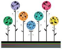 Multicolored bloemontwerp, stock illustratie