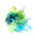 Multicolored blot Royalty Free Stock Photos