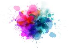 Multicolored blot. Multicolored watercolor splash blot for your design Stock Photo