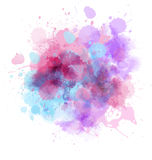 Multicolored blot Stock Images